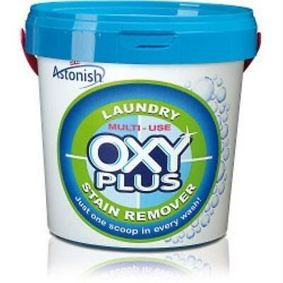 NEW Astonish Laundry Multi-purpose Oxy Plus Stain Remover Cleaner Tub 1kg