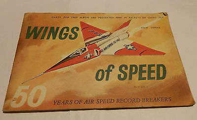 "VINTAGE Lyons tea cards album ""Wings of Speed"" COMPLETE"