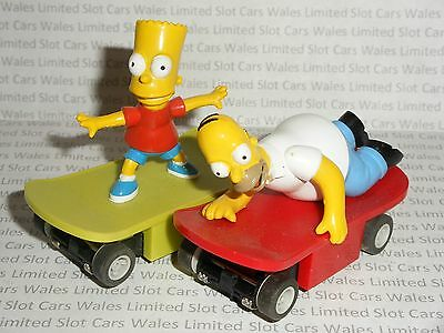 MICRO Scalextric - Pair of Homer & Bart Simpson Skateboards - Exc. Cdn.