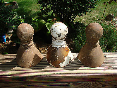 Antique Vintage 3 Cast Iron Ball Bathtub Feet Legs Architectural Salvage