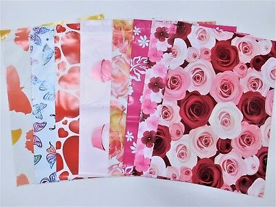 40 10x13 Designer Butterfly Flower Mailers Poly Shipping Envelopes Boutique Bags