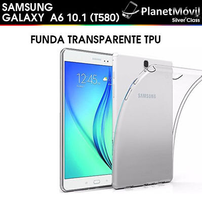 """Housse Transparent Silicone Tpu Samsung Galaxy Tab A6 2016 T580 10.1"""" Tablette"""