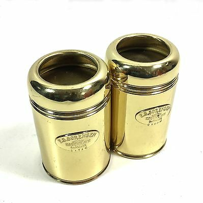 "E.S.Sorensen Brass ""Lighthouse"" Tea Light Candle Holders, Set of 2"