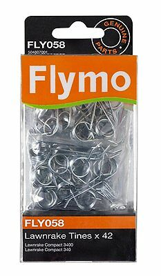 Genuine Flymo 42  Replacement Metal Tines to suit Lawnrake Compact 340/3400 FLY0