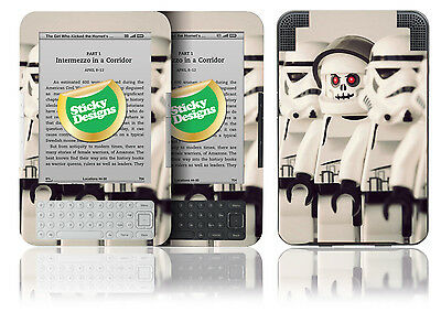 Amazon Kindle 3 - LEGO Storm Trooper Vinyl Hülle Sticker Abdeckung