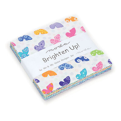 Patchwork/quilting Fabric Moda Charm Squares/packs - Brighten Up