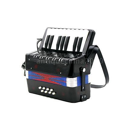 NEW childs accordion W/17-Key 8 Bass Rhythm Educational Musical Instrument T1Y0