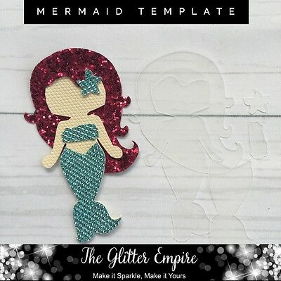 Mermaid Plastic Template To Make Your Own Use For Hair Clips Bows