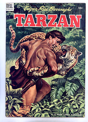 Tarzan #55 FN Painted Cover, Marsh, Brothers of the Spear