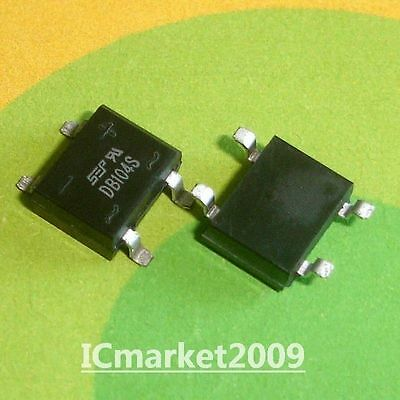 100 PCS DB104S SMD-4 DB104 1.0AMP Single Phase Bridge Rectifiers 400V 1A ,Diodes