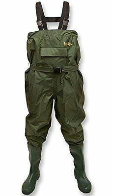 100% Waterproof Olive Nylon Fishing Clothes Chest Waders with Belt Size 6-12 DIY