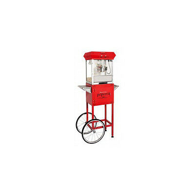 Golden Popcorn Machine With Cart Red