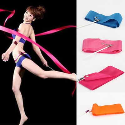 CHINESE DANCE RIBBON GYMNASTIC BATON TWIRLING STREAMER NEW YEAR PARTY Pick Color