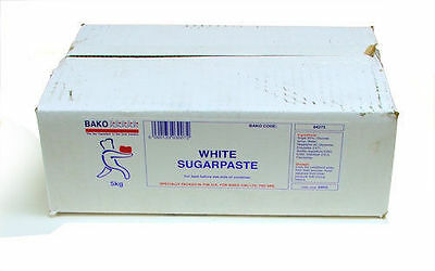 BAKO Ready to Roll Icing/ Sugarpaste White 5 KG NOW OMLY £19.25 FREE P&P