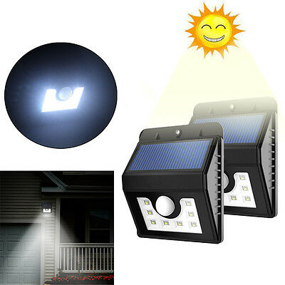 Waterproof 8 LED PIR Motion Sensor Solar Wall Light Outdoor Security Garden Lamp