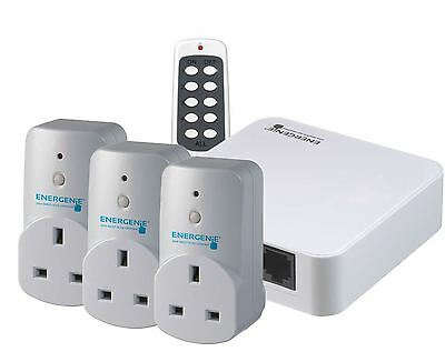 Energenie Starter Bundle includes Home Gateway, 3x Home Adapter and Remote