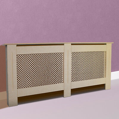 Radiator Cover White Cabinet Unpainted MDF Wood Furniture XL Size