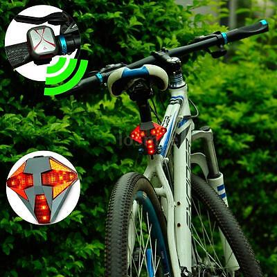 Rechargeable Bicycle Wireless Remote Control Rear Lamp Turn Signal Light Y5C5