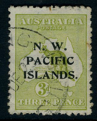 NEW GUINEA (N.W PACIFIC ISLANDS)-1919 3d Greenish Olive Sg 109 MOUNTED MINT