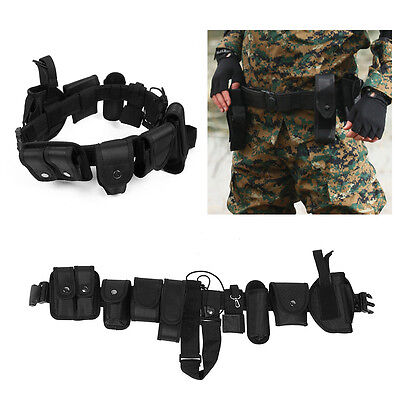 Police Security Guard Modular Law Enforcement Equipment Duty Belt Tactical Nylon