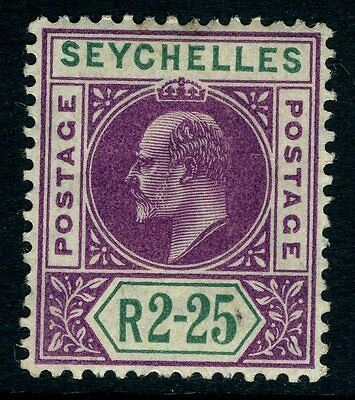 SEYCHELLES-1906 2r:25 Purple & Green Sg 70  MOUNTED MINT V12647