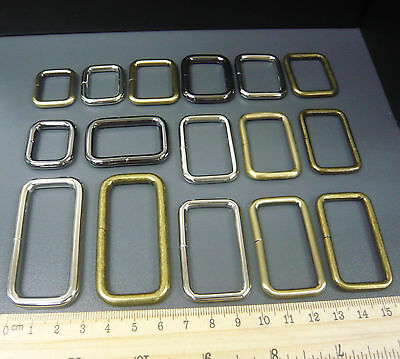 "Belt/Bag Buckles Metal Wire Rectangle D Ring Loops for 1"" 1.25"" 1.5"" 2"" strap"