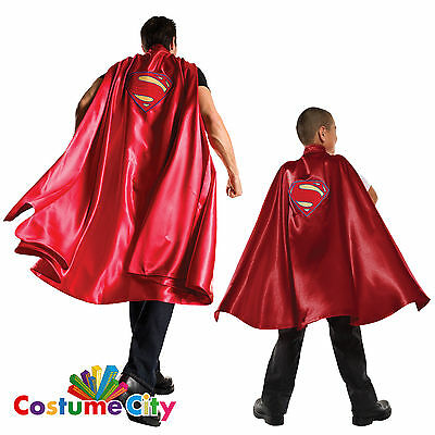 Adults Childs Dawn of Justice Superman Cape Fancy Dress Costume Accessory