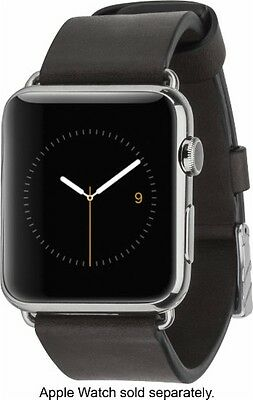Case Mate Leather Smartwatch Band for Apple Watch 42mm Black DH51