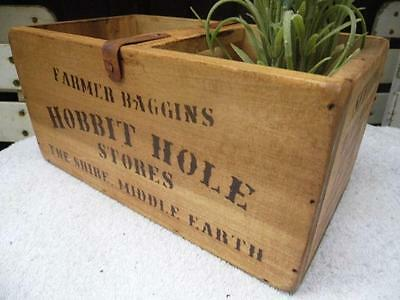 Vintage Style Small Pine Crate Storage Box *hobbit Hole Stores-Farmer Baggins*