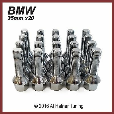 BMW 35mm Silver Extended Wheel Lug Bolts 12x1.5 (set of 20)