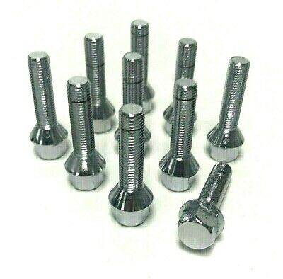 BMW 43mm Silver Extended Wheel Lug Bolts 12x1.5 (set of 20)
