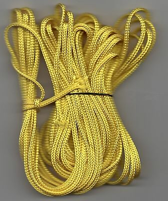 1m-50m Nylon Braided YELLOW Cord 2.00mm Twine String Para Soft Poly 2mm Strong
