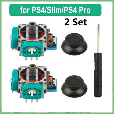 2 Sets 3D Analog Joystick Sensor Module Replacement Part+Tool For PS4 Controller