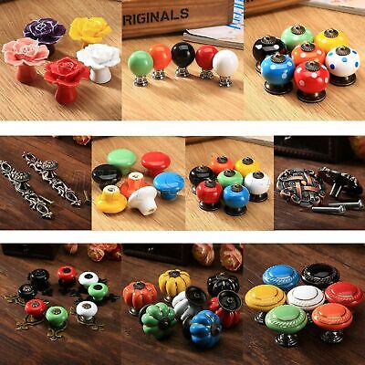 Hot Ceramic Kitchen Cabinet Drawer Cupboard Handle Bedroom Furniture Door Knobs