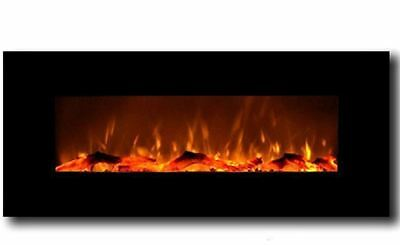 Wall Mounted LED Electric Fireplace 50""
