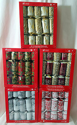 Christmas 10 x 30cm Large Crackers Table Tree Decorations Pick Colour