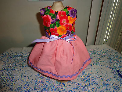 doll clothes dress for 18 inch american girl pansy pink purple handmade 307