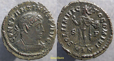 "Ancient Roman Coin - Constantine I (""the Great"") - Sol - London Mint"
