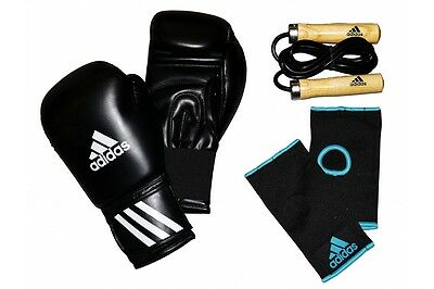 Adidas Energy 50 Boxing Gloves Gift Set 12oz Gloves Skipping Rope Inner Gloves