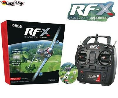 Great Planes RealFlight RF-X Flight Simulator w Interlink-X Con Windows 7/8/10