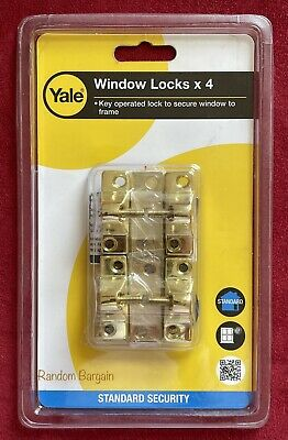 Yale Economy Window Lock Electro Brass Finish V-8K118-4-EB - Pack of 4