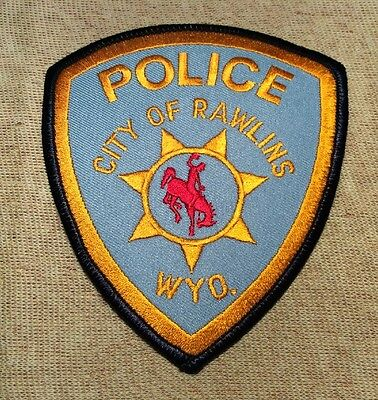 WY Rawlings Wyoming Police Patch