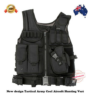Airsoft Tactical Army Military Paintball Hunting Vest Camping Hiking Summer Cool