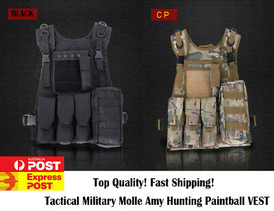 Military Tactical Molle Hunting Vest Paintball Jacket SWAT Airsoft Army OZ