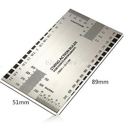 Stainless steel Guitar String Action Ruler Gauge Guide Measuring Luthier Tools