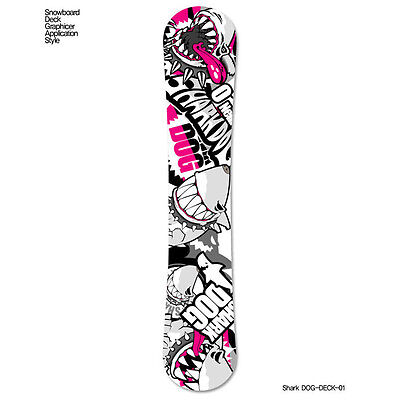 Skin Decal Stickers For Snowboard Deck Tuning Graphicer Shark-Dog 13 Designs