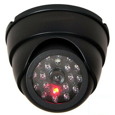 Dummy Fake Surveillance Security Dome CCTV Camera With 30pcs Flashing LED Light