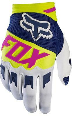 "Guanti cross | enduro FOX Dirtpaw bianco / blue / giallo fluo / fucxia ""M"""