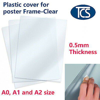 5 / 10 pcs Replacement A0 A1 A2 Size Anti-glare Plastic Poster Cover Snap Frame