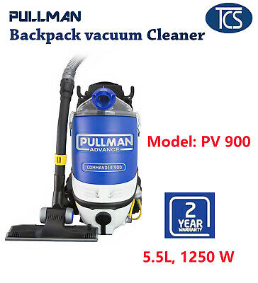 NEW PULLMAN PV900 Commercial Backpack Vacuum Cleaner 5.5L 2 Yrs warranty